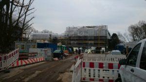 Baufortschritt im Dezember 2017: der Innenausbau läuft (BA Hamburg-Nord)