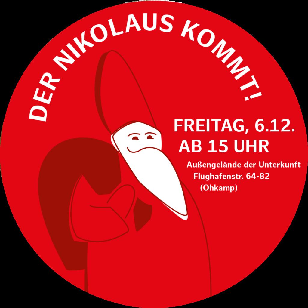 Nikolausfest am 6.12. ab 15 Uhr auf dem Hof der Unterkunft Flughafenstraße 64
